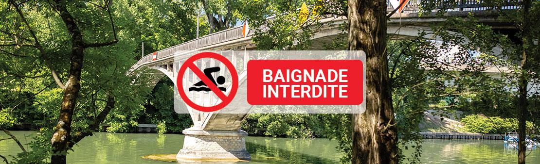 Rappel : il est toujours interdit de se baigner dans la Marne