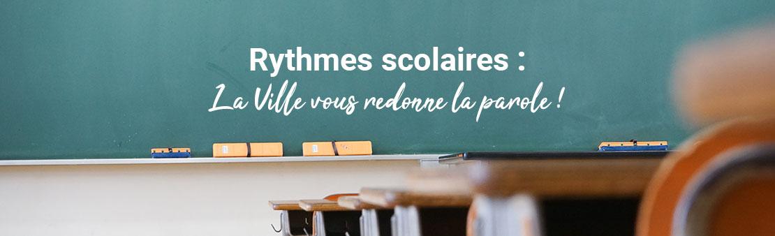Rythmes scolaires : La Ville vous redonne la parole !