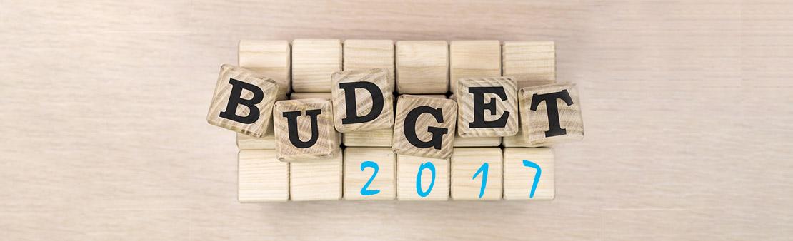 Le budget 2017