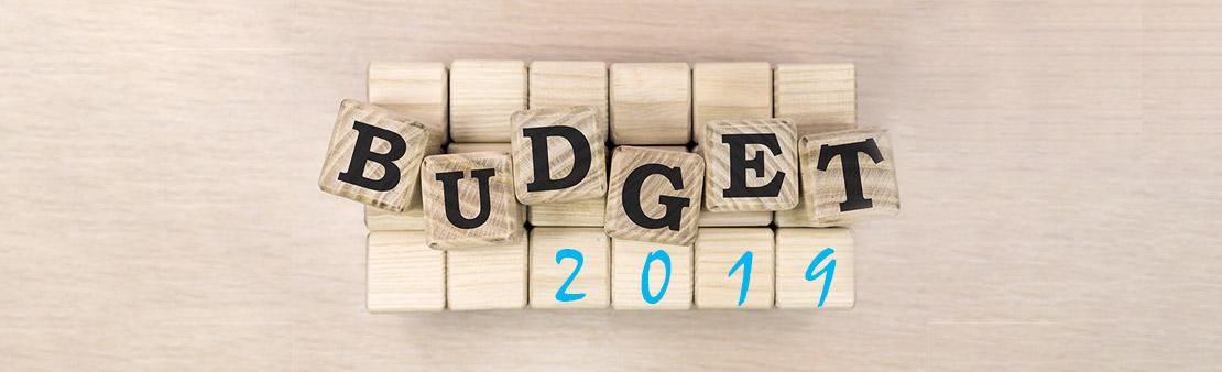 Le budget 2019