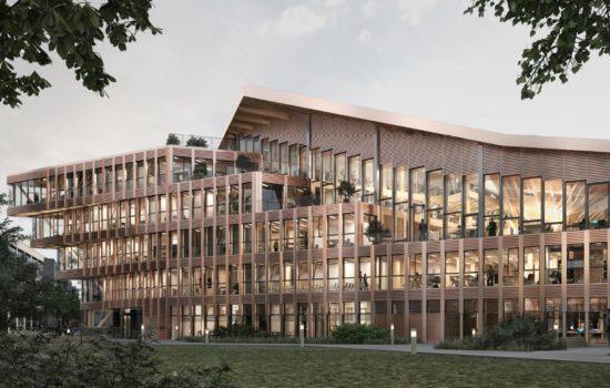 Les premières images virtuelles du futur siège de l'ONF qui sera économe en énergie et fera la part belle aux matériaux biosourcés.