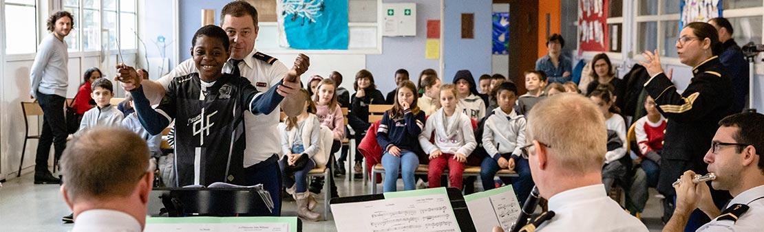 Projet pédagogique : apprendre la musique autrement avec des gendarmes