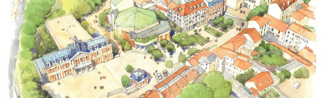 114 avenue de Gaulle : découvrez le projet de reconstruction et d'agrandissement du parvis de la mairie